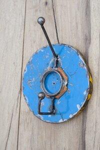 Ölfässer Aufhänger/Garderobe, Blau  - Africa Design