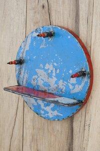 Ölfässer Aufhänger/ Ablage blau - Africa Design