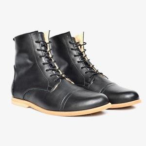 '89 Leder Boots in Schwarz - SORBAS