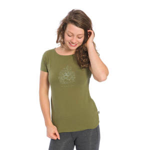 Kusel T-Shirt Damen Olivgrün - bleed