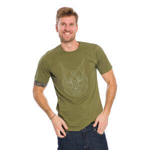 Luchs T-Shirt Olivgrün - bleed