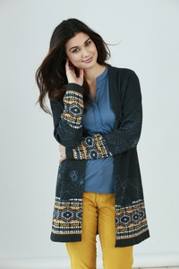 Mantel mit Kapuze aus Bio-Baumwolle - Deep Blue - Madness