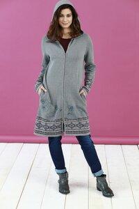 Mantel mit Kapuze aus Bio-Baumwolle - Grey - Madness