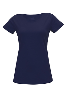 Damen T-Shirt in blau - Fairtrade & GOTS zertifiziert - MELAWEAR