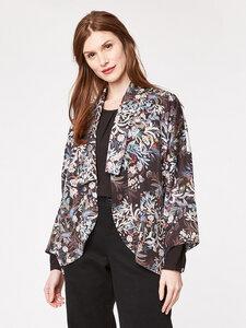 Blooms Floral Print Kimono Jacket  - Thought