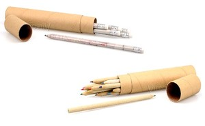 Stifte Set aus recyceltem Zeitungspapier - 48 Stk. - Vireo
