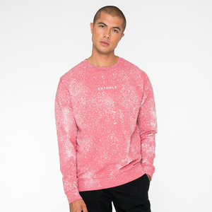 LOGO / Organic Crewneck Men (Speckled Rose) - Rotholz