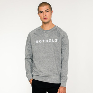 LOGO / Organic Crewneck (Stone Heather) - Rotholz