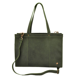 Elegante - Laptoptasche Rindsleder - armee grün - MoreThanHip