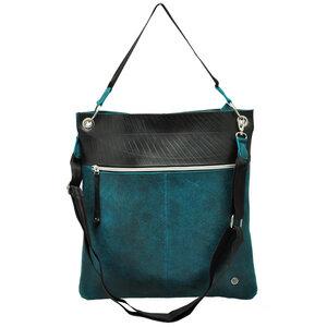 Muchacha - Damentasche aus LKW Schlauch und Öko Leder - blau - MoreThanHip