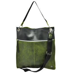 Muchacha - Damentasche aus LKW Schlauch und Öko Leder - grün - MoreThanHip