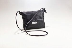 Handtasche CLUB // Leder schwarz perforiert - frisch Beutel