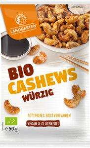 Würzige Bio Cashews 50g Vegan - Landgarten
