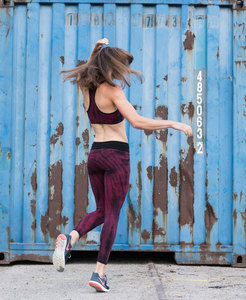 Bio-Baumwolle Leggings - bordeaux rot - Flying Love Birds