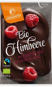 Bio-Himbeere in Zartbitterschokolade - Landgarten