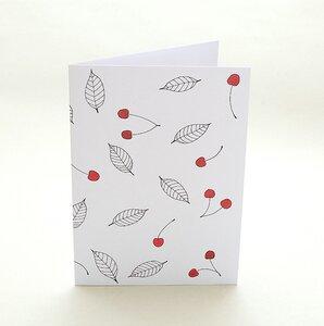 Grußkarte Kirschen - karamelo