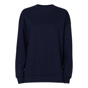 Damen Long Sweatshirt French Navy Bio & Fair - ThokkThokk ST