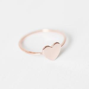 Herz Ring II 925er Sterling Silber vergoldet inkl Geschenkbox - Oh Bracelet Berlin