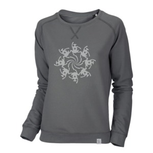 Cropcircle Spirals - Raglan Sweatshirt - Vintage G.Dyed Anthracite - Sacred Designs