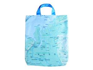 SKANDINAVIEN / RUSSLAND Einkaufstasche aus Weltkarte, Upcycling von Leesha - Leesha