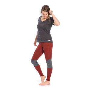 Functional Leggings Damen Rostrot - bleed