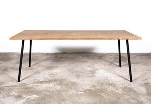 DUNKLER HOLZTISCH, großer Esstisch aus dunklem Alteichenholz - Hardman Design & Build