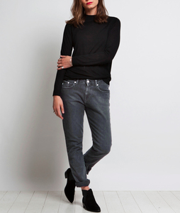 Boyfriend Basin - Stone Black - Mud Jeans