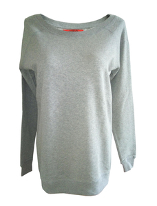 Simple Oversize Sweater Grey | Bio - milch Basics
