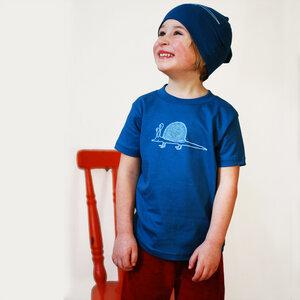 Kinder T-Shirt Schnigel blau - Cmig