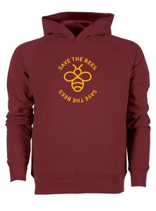 Herren Hoodie aus Bio-Baumwolle 'Save the bees' - University of Soul