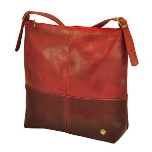 Amena - stilvolle zweifarbige Damenhandtasche aus Semi-Ökö-Leder - rot - MoreThanHip