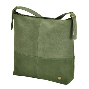 Amena - stilvolle zweifarbige Damenhandtasche aus Semi-Ökö-Leder - grün - MoreThanHip