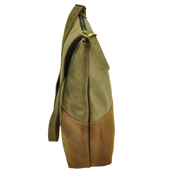 5ec07ac4d1bff Amena - stilvolle zweifarbige Damenhandtasche aus Semi-Ökö-Leder - braun.  MoreThanHip