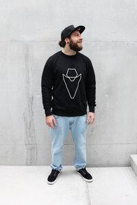 Pullover Grafikherz black VEROIKON  - VEROIKON