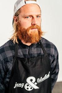 Kochschürze mit jung&talentiert Logo - jung&talentiert