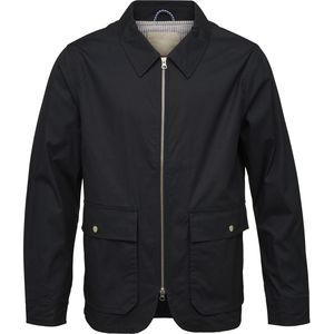 Übergangsjacke - Waxed jacket with big pockets - Total Eclipse - KnowledgeCotton Apparel