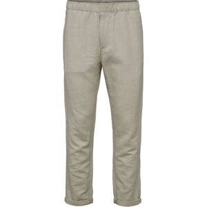 Loose pant with string inside waist - Feather gray - KnowledgeCotton Apparel