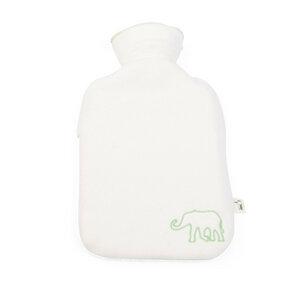 Bio-Kinder-Wärmflasche mit Bezug, 0,8l, Naturkautschuk - Grünspecht