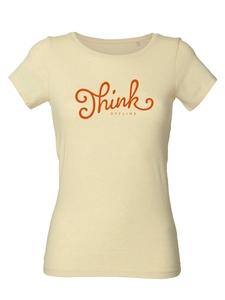 "Damen T-Shirt aus Bio-Baumwolle ""Think Offline"" - University of Soul"