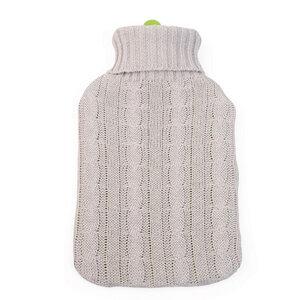 Bio-Wärmflasche mit Bezug, 2l, Naturkautschuk - Grünspecht