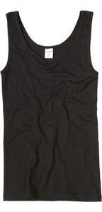 Trägerhemd, schwarz V-Ausschnitt 4350 Biobaumwolle - Living Crafts
