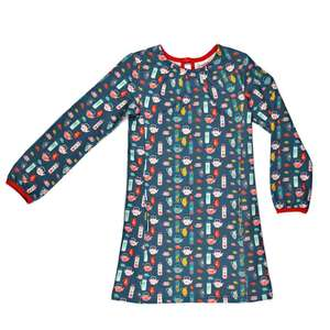 Jersey Langarmkleid tea party - Baba Babywear