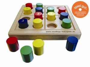 Brettspiel SUDOKU color nic - intellego holzspiele