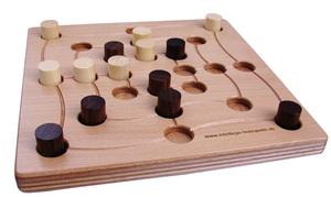 Brettspiel QUADLINO+MÜHLE classic - intellego holzspiele