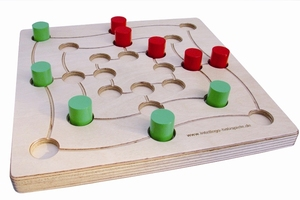 Brettspiel QUADLINO+MÜHLE color - intellego holzspiele