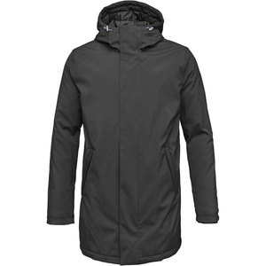 Long Soft Shell Quilted Jacket - Phantom - KnowledgeCotton Apparel