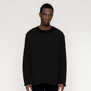 BASIC / Wide Collar Kashmir Sweater (fair)  - Rotholz