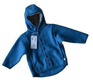 Walk Jacke aus 100% kbT Wolle blau - Disana