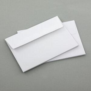 Briefumschläge C6, DIN A6, weiß, ohne Fenster - 10ér Set - Eco-Cards
