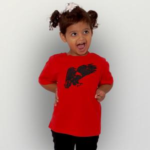'Weißkopfseeadler' Unisex  Kinder-T-Shirt  - shop handgedruckt